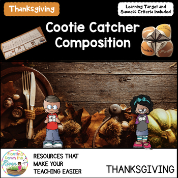 Cootie Catcher Composition Thanksgiving Edition