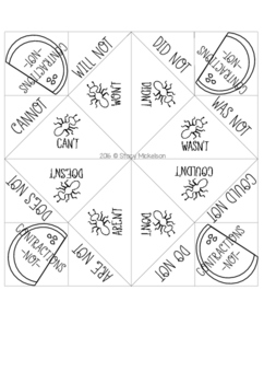 Cootie Catcher - Contractions ~Updated & Expanded!~