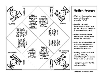 Cootie Catcher For Reading Comprehension