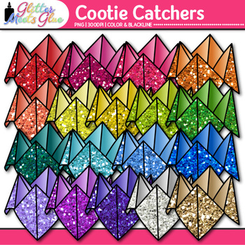 Cootie Catcher Clip Art {Fortune Teller Game Graphics for Classroom Resources}