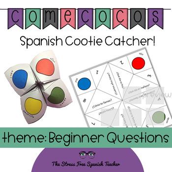 Spanish Fortune Teller Cootie Catcher Beginners Speaking Activity