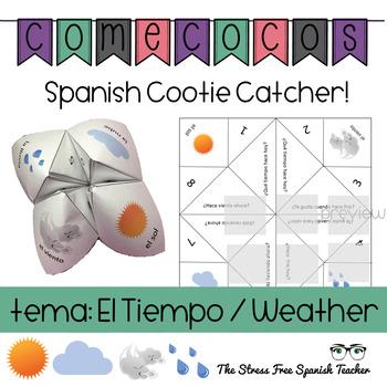 Spanish Fortune Teller Comecocos Spanish Weather / Tiempo Speaking