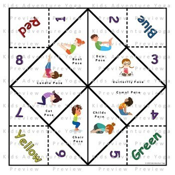 Cootie Catcher / Fortune Telling Game for Kids Yoga