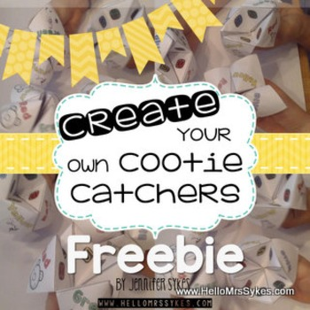 Cootie Catcher Freebie CYO ~ Create Your Own