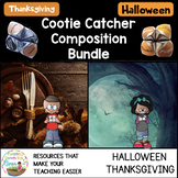 Cootie Catcher Halloween and Thanksgiving Bundle