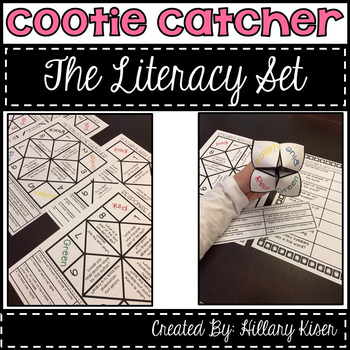 Cootie Catcher Literacy Set
