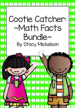 Cootie Catcher - Math Facts Bundle ~New!~