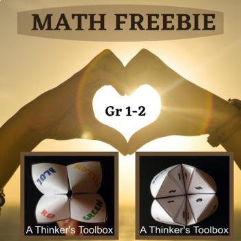 Cootie Catcher Math Hand Game FREEBIE