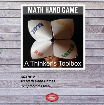 Cootie Catcher Math Hand Game - Grade 2
