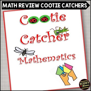 Math Review Cootie Catchers