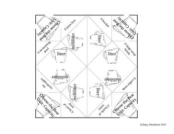 Cootie Catcher - Measurement Set - Standard & Metric