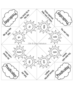 Cootie Catcher - Predicates ~Updated & Expanded!~