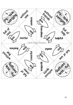 Cootie Catcher - Prefixes & Suffixes Bundle ~NEW!~