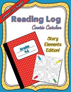 Cootie Catcher Story Elements, Grades 4-6