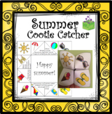 Summer- End of the Year Cootie Catcher