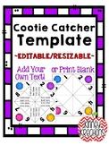 Fortune Teller / Cootie Catcher Template {Editable}