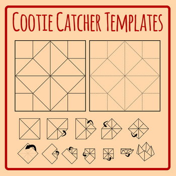 Cootie Catcher Template - Origami Fortune Teller ... - photo#24