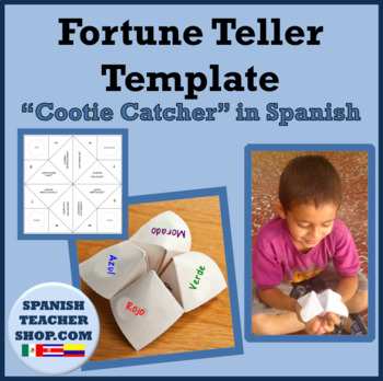 Fortune Teller Templates in Spanish
