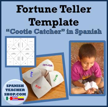 Fortune Teller Templates in Spanish
