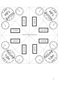 Cootie Catcher - Time to Hour & Half Hour ~New!~