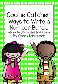 Cootie Catcher - Ways to Write a Number Bundle ~New!~