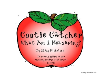 Cootie Catcher - What Am I Measuring - Standard and Metric