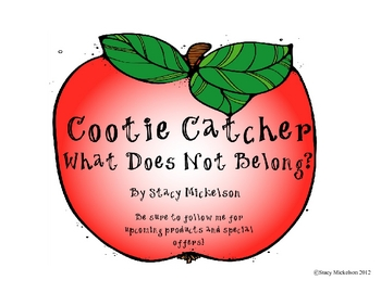 Cootie Catcher - What Does Not Belong?