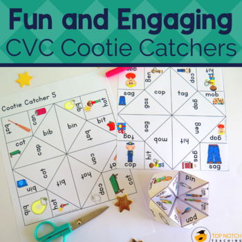 Cootie Catchers and Fortune Tellers for CVC Words