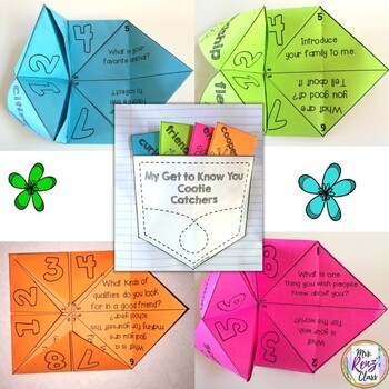 Back to School Activities Cootie Catchers are Fun Get to Know You Ice Breaker