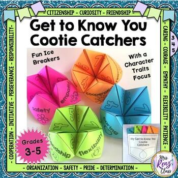 Back to School Activities - Cootie Catcher Get to Know You Ice Breakers
