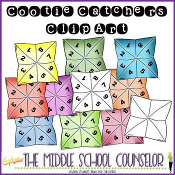 Cootie Catchers (Fortune Tellers) Clip Art
