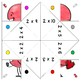 Cootie Catchers / Fortune Tellers - Valentine's Day Math Multiplication