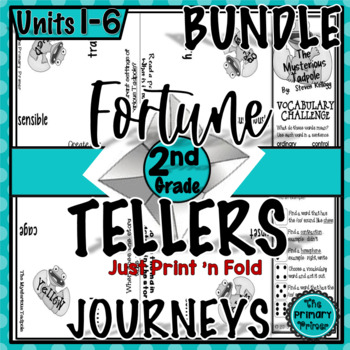 Journeys SECOND Grade Cootie Catchers: The BUNDLE for Units 1-6