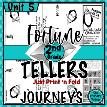 Journeys SECOND Grade Fortune Tellers: Unit FIVE