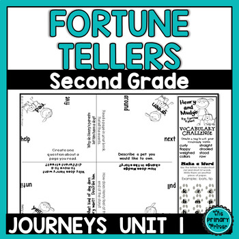 Journeys SECOND Grade Cootie Catchers: Unit ONE