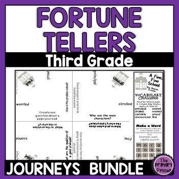 Journeys THIRD Grade Cootie Catchers:  The BUNDLE for Units 1-6