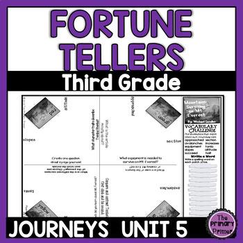 Journeys THIRD Grade Cootie Catchers:  Unit FIVE