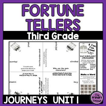 Journeys THIRD Grade Cootie Catchers: Unit ONE