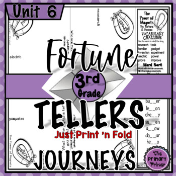 Journeys THIRD Grade Cootie Catchers: Unit SIX