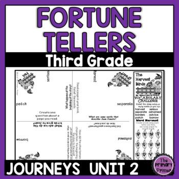 Cootie Catchers:  Journeys THIRD Grade Unit TWO