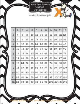 Cootie Catchers Math Fact Fluency Multiplication Kit