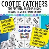 Library Skills Cootie Catchers | Dewey, Genre, Text Featur