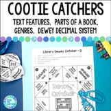 Library Skills Cootie Catchers and Fortune Tellers for Sch