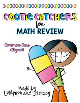 Cootie Catchers for Math Concepts