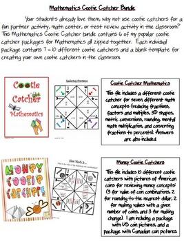 Cootie Catchers for Mathematics