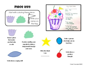 Cope-Cakes: Coping Skill Worksheets