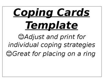 Coping Cards Worksheets & Teaching Resources   Teachers Pay