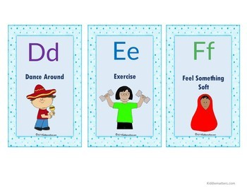 Calm Down Flash Cards For Children