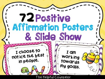 Coping Skills: Affirmations Posters & Slide Show