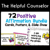 Coping Skills: Affirmations Bundle: 72 Cards, Posters & Slide Show